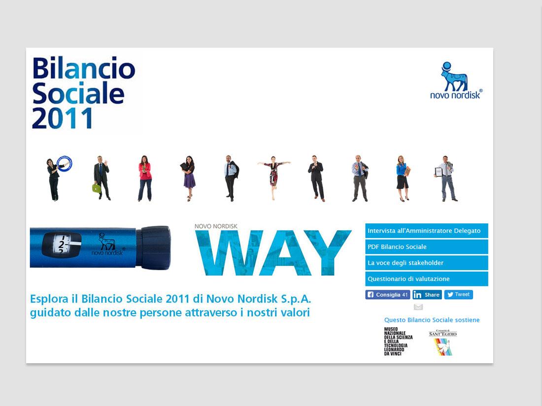 word+image - Bilancio sociale Novo Nordisk web site