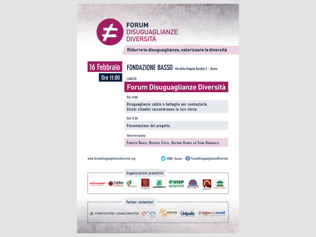 word+image - Locandina Lancio Forum Disuguaglianze Diversità